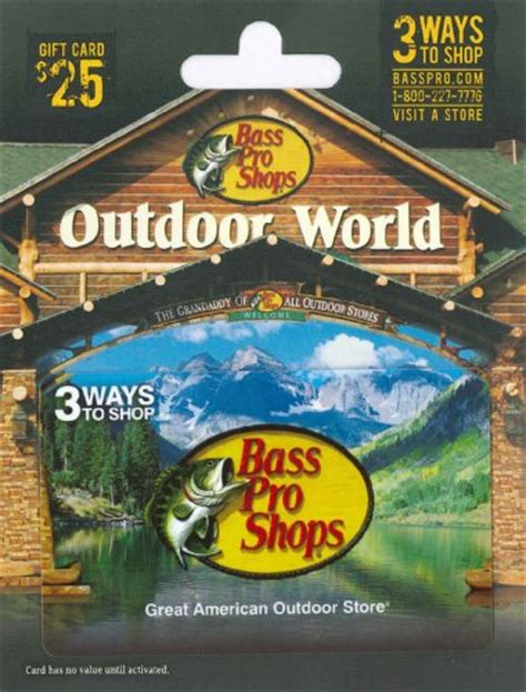Cabelas And Bass Pro Gift Cards - bass pro shops gift card 25