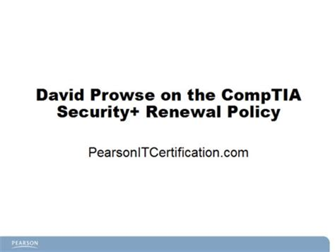 comptia security sy0 501 ucertify labs student access card 2nd edition certification guide books david prowse on the comptia security renewal policy