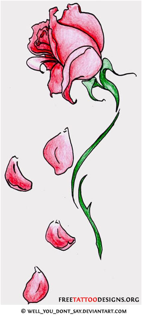 rose petals tattoo flower gallery 70 flower designs