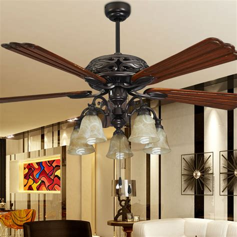 Fashion Ceiling Fan Lights Retro Style Fan Ls Bedroom Living Room Ceiling Fans With Lights
