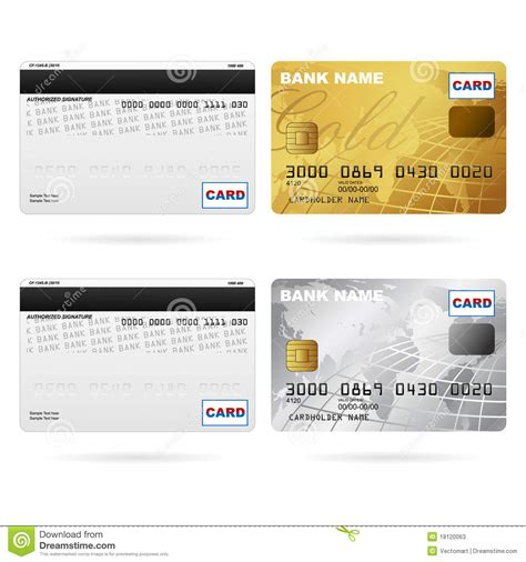 Credit Card Template Front And Back Front And Back Of Credit Cards Stock Photos Image 18120063