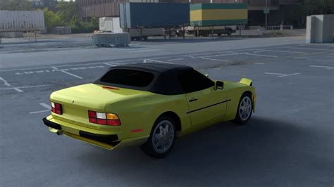 porsche 944 convertible hdri 3d model obj fbx stl blend