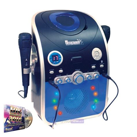 karaoke machine with lights mr entertainer cdg karaoke machine with bluetooth led