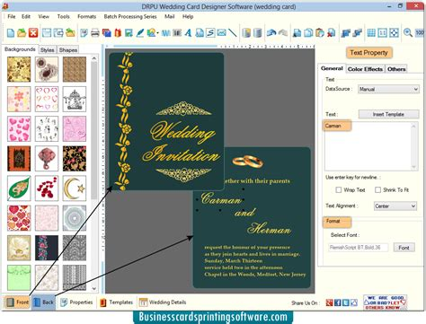 invitation card software wedding card designing software design and print marriage