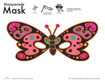 printable butterfly mask new year s masquerade masks education com