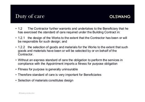design and build contract collateral warranties collateral warranties and third party rights