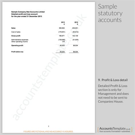 simple profit and loss statement template focused