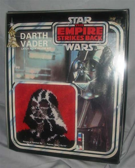 wars latch hook rug kits darth vader latch hook pillow kit wars collectors archive