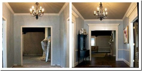 home design story blog different size crown molding in two story foyer trgn