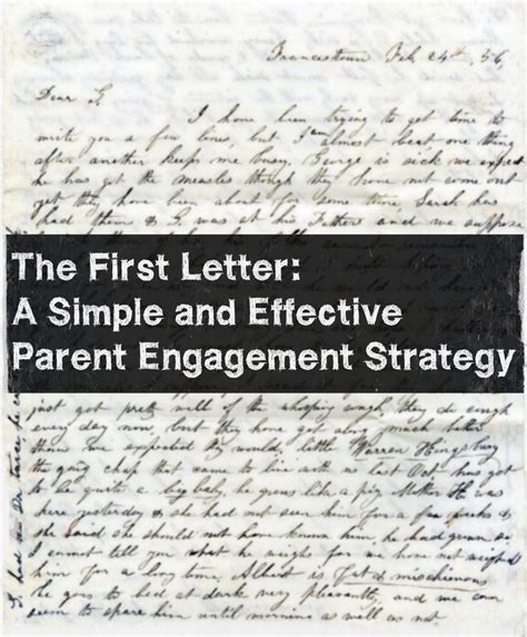 Parent Information Letter From here s a simple strategy to engage parents before they