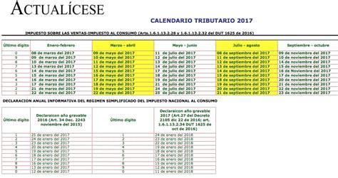 vencimiento de pago impuestos dian tabla de pago del cree 2016 dian oro calendario tributario