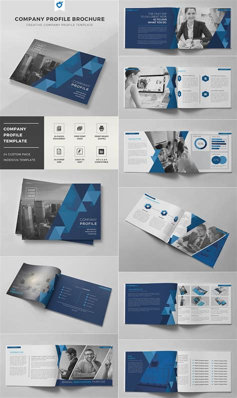 booklet design template company profile brochure indd template magazyny x