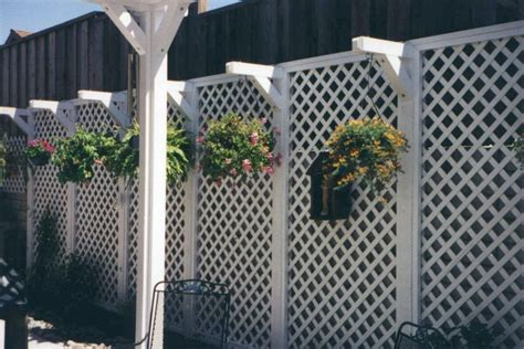 vinyl lattice fence woodworking projects