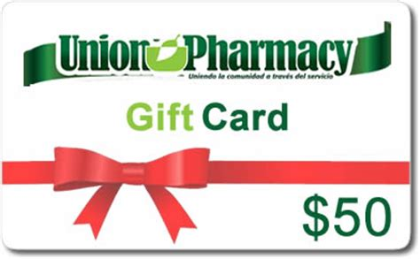Drugstore Gift Card - 50 union pharmacy gift card union pharmacy miami