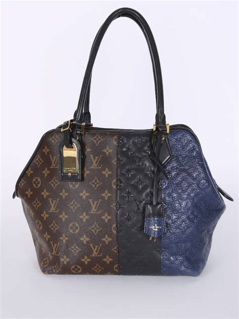 louis vuitton marine limited edition monogram block bag