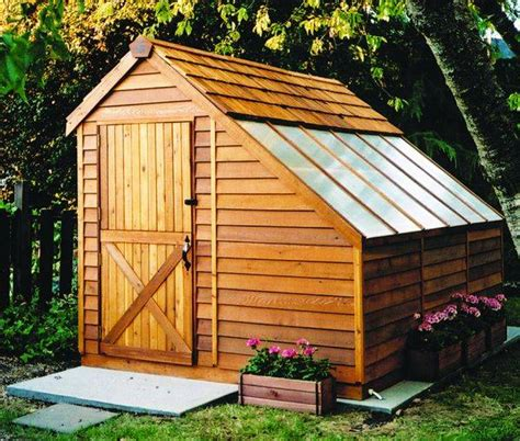 Greenhouse Shed Plans by Cedar Greenhouse Kit 8 X 12 Sh812