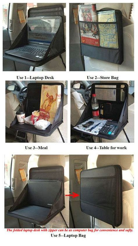 Portable Desk Organizer Car Seats Ps And Tables On Pinterest