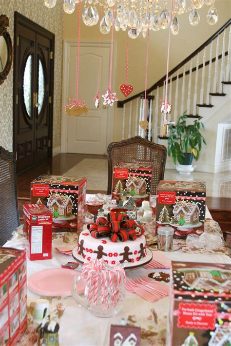 home party decor sweet parties a gingerbread party glorious treats