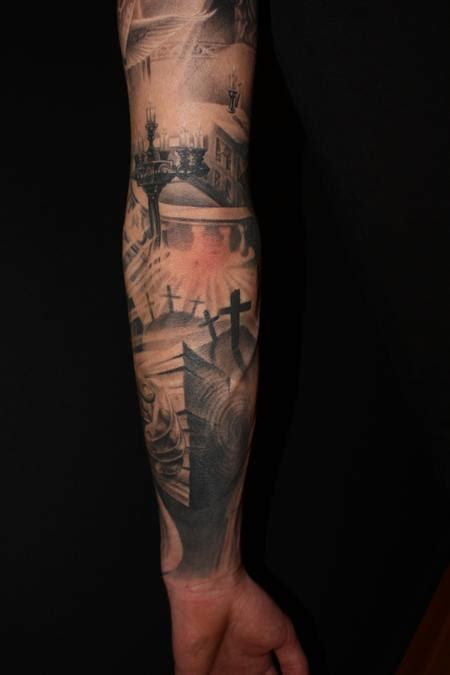 tattoo inspiration religious religious arm in progress by dennis wehler tattoo
