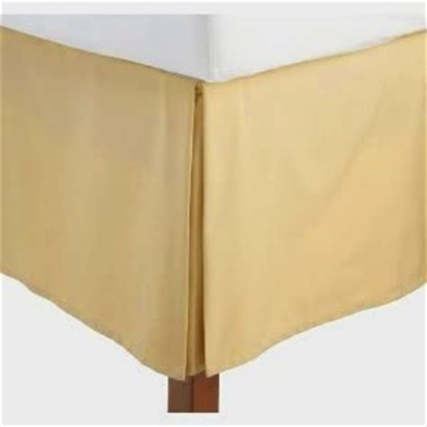 gold bed skirt amazon com queen size solid bed skirt with 14 quot drop