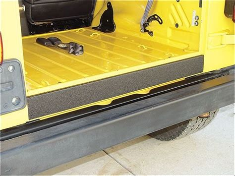 jeep protector tough stuff 174 000085 vinyl tailgate sill protector for 87