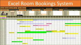Reservation Calendar Template by Excel Room Bookings Calendar