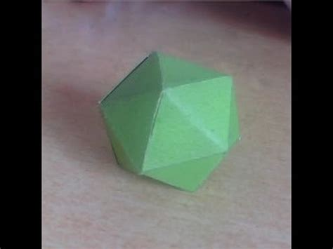 How To Make A Paper Sided - how to make 20 sided dice origami