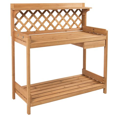 planting bench potting bench outdoor garden work bench station planting solid wood construction