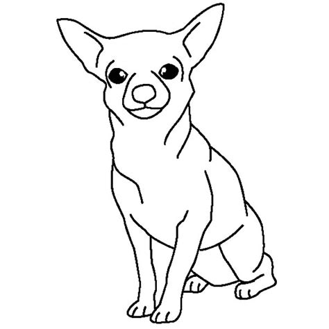 coloring pages chihuahua dogs chihuahua dog posing coloring pages netart