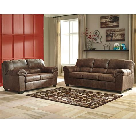 Signature Design By Ashley Bladen Living Room Set In Faux Leather Living Room Set