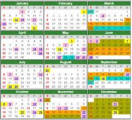 kalendar cuti umum dan cuti sekolah seluruh negeri