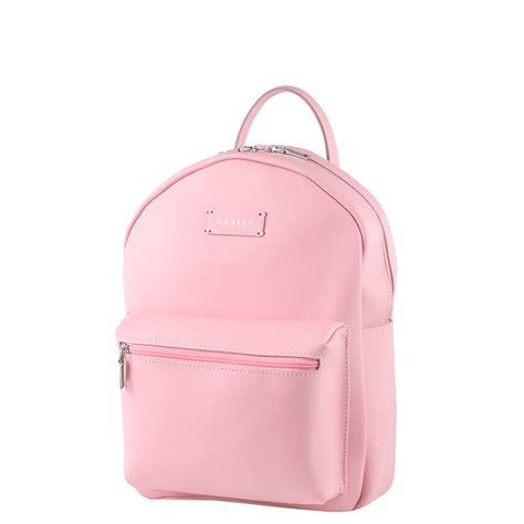 Side Zipper Backpack 0453 zipper pink medium size leather backpack