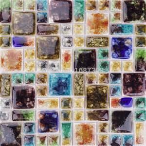 Gemstone Home Decor Home Decor Iridescent Fancy Gemstone Glass Art Mosaic