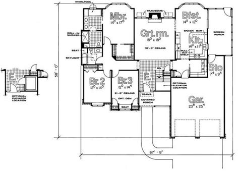 handicap accessible home plans house plan 120 1495 3 bedroom 2053 sq ft ranch