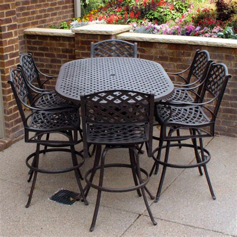 bar height patio furniture sets palizzi outdoor bar stools by leisure select family leisure