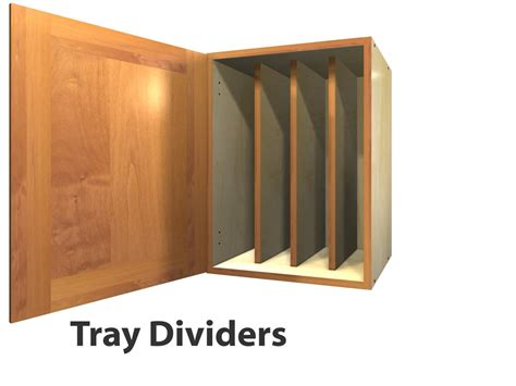 Cabinet Tray Dividers by 1 Door Wall Cabinet With Tray Dividers