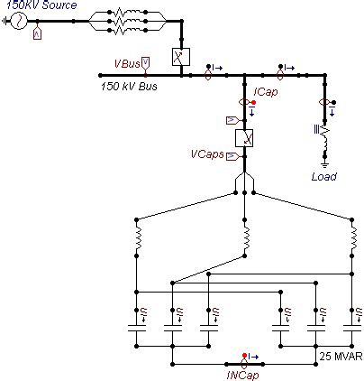 nominal voltage of capacitor atp model of ungrounded y connected capacitor bank with series