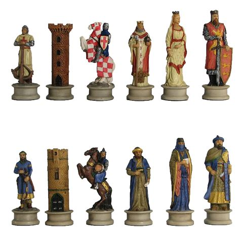 chess set pieces crusades chess pieces hand painted