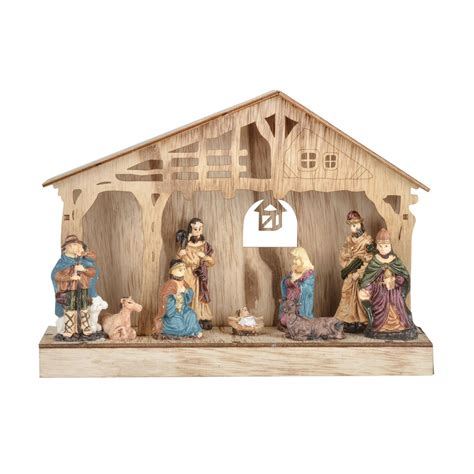 nativity scene christmas light up decoration battery