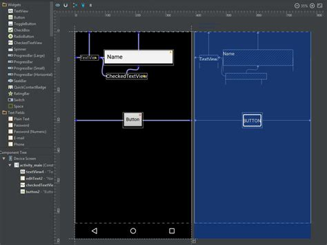 android studio layout full screen design screen disappeared in android studio 2 2 stack