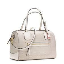Signature Oxford Zip Satchel by Coach Poppy Signature C Oxford Satchel Handbag 25047