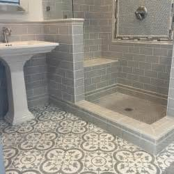 Tile Bathroom Floor by Bathroom Tiles Cheverny Blanc Encaustic Cement Wall And