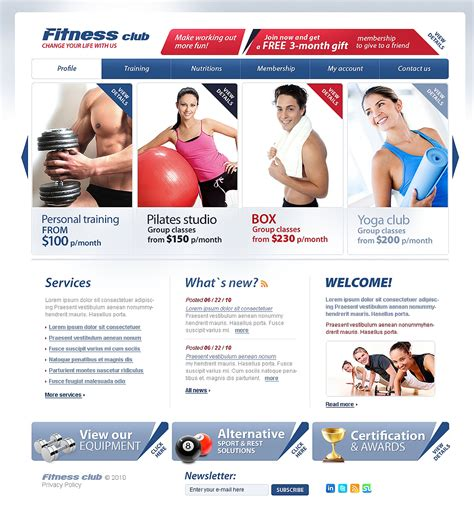 Fitness Website Template Web Design Templates Website Templates Download Fitness Website Fitness Website Design Templates