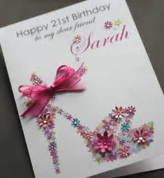 Handmade Greetings Cards Uk - large a5 handmade personalised floral shoe birthday card