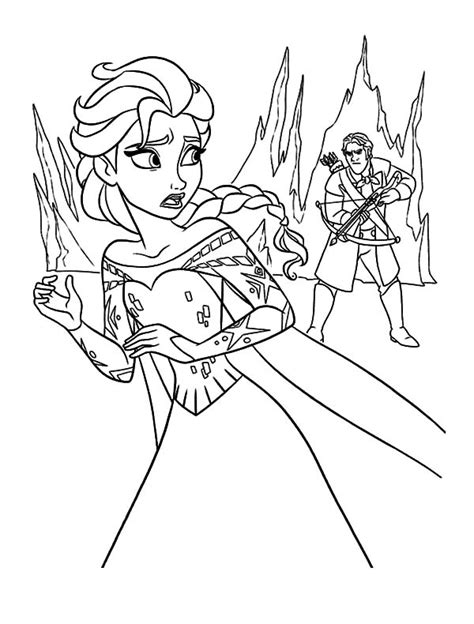 little elsa coloring page little elsa chase little anna coloring pages coloring sky