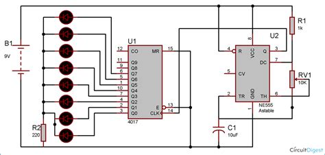 led blinker circuit diagram shaped serial led flasher circuit diagram using ic