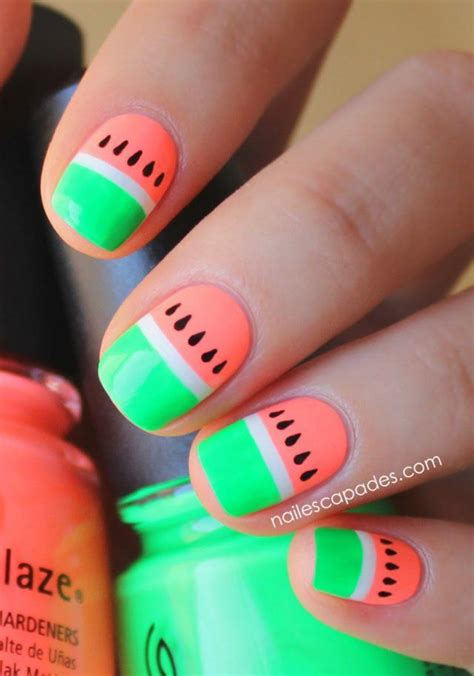 prothese ongle fantaisie decoration ongle ete