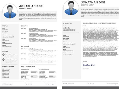 professional resume with cover letter set free