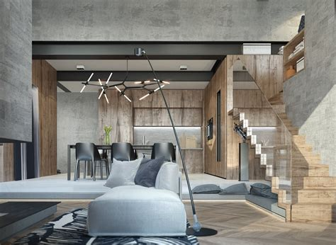 concrete apartment soak in design homes with inspiring wall treatments and designer lighting