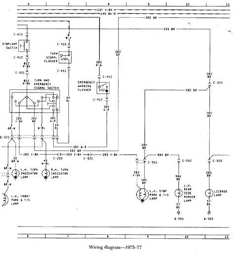 1966 77 bronco wiring diagram
